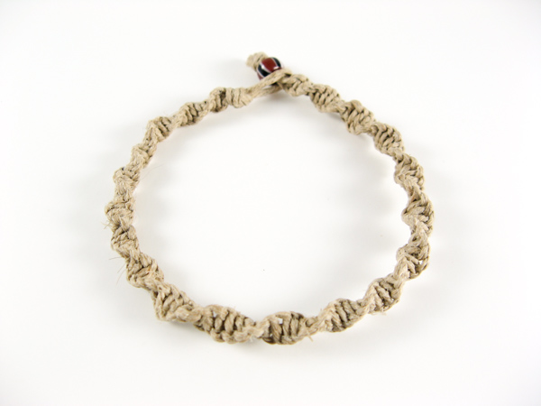 Hemp Jewelry - Flat and Spiral Weave