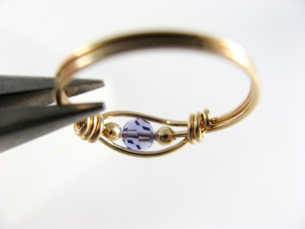 tanzanite wire ring step7