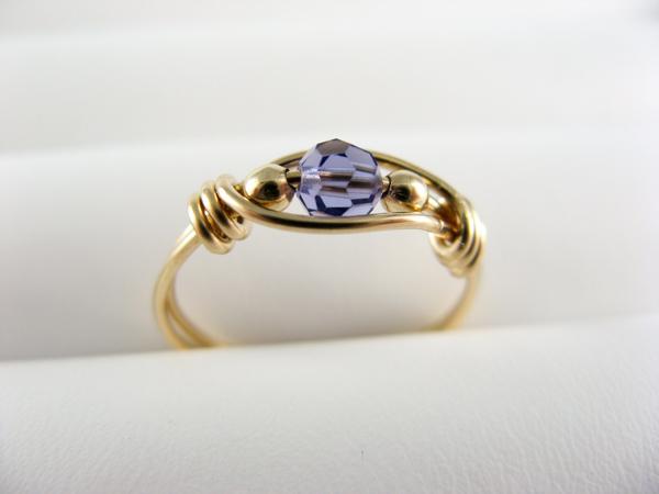 tanzanite wire ring