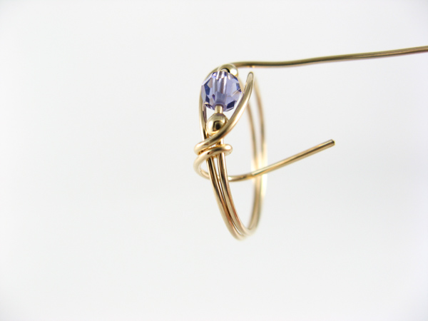 tanzanite wire ring step6