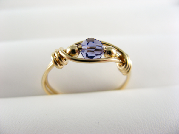 tanzanite wire ring