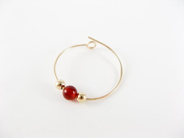 wire hoop earring step5